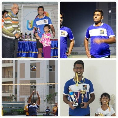 Never played volley before but after a month long hard training, successfully able to reduce few kilos and lift the Winner Trophy ! #Sports #Volleyball #Amateursports #fitness