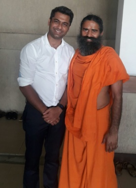 Blessed Swami Ramdev Ji #football#yoga#patanjali