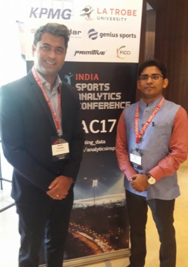 A group of #NRI from #Melbourne taken an initiative to host #IndiaSportsAnalyticsConference2017 #FICCI #KPMG #Primitive. It was good experience to be part of it as Speaker
