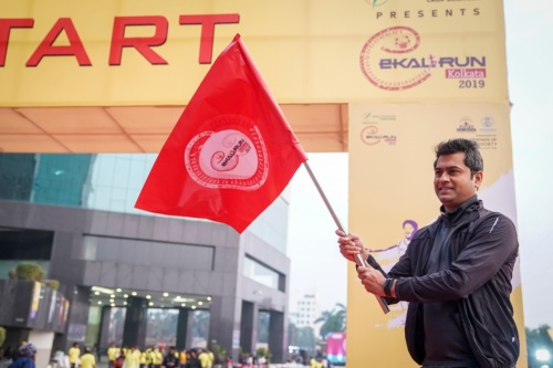 Flag off at #Marathon of #EkalRun#Kolkata2019